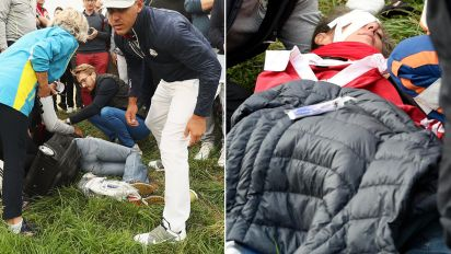 Fan's eyeball 'exploded' after Ryder Cup mishap