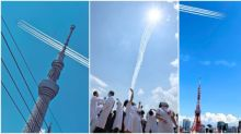 【有圖有片】日本向醫護感謝的方法 戰機飛過東京鐵塔、晴空塔超靚