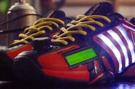 Adidas Social Media Barricade shoe concept moves tweets to the track (video)