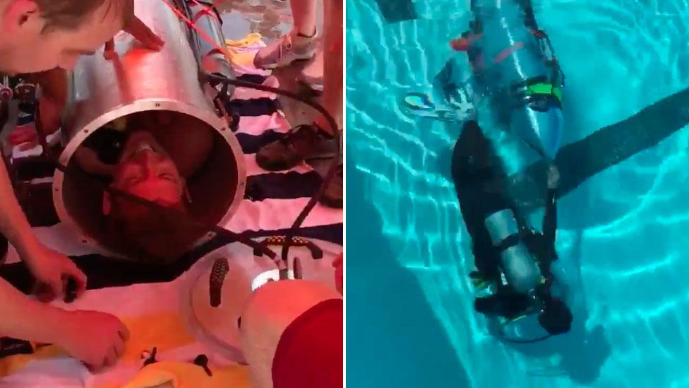 Thai Cave Rescue Elon Musk S Spacex Mini Submarine To Get Boys Out