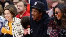 Beyoncé and Emilia Clarke Were Front and Center at the Houston Rockets Game Last Night