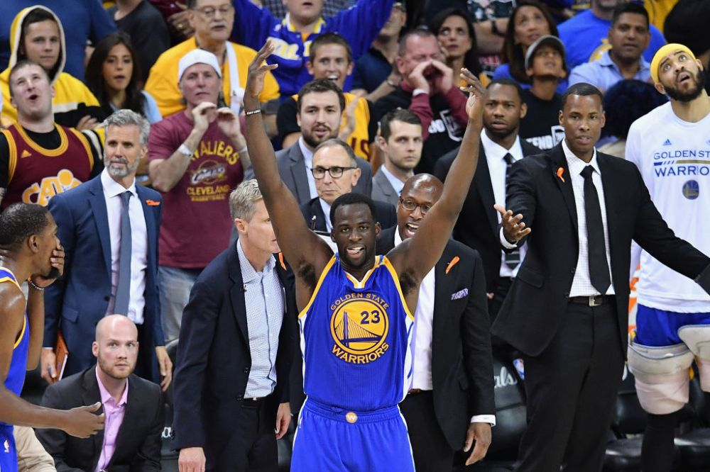 Draymond Green embraces his role as the villain as Cavs fans boo him. (Getty Images)