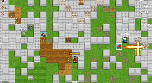 Bomberman gets unofficial web-based version, crams in up to 1,000 online players