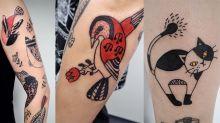 日本女生11歲就當紋身師?「日式禪繞畫法」連外國人都專門拜訪!