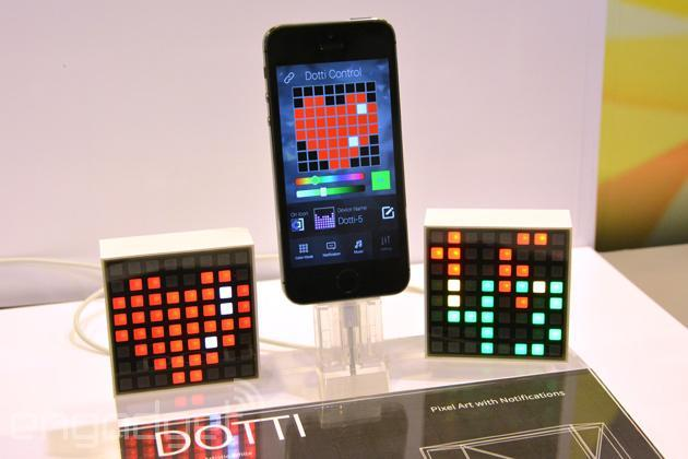 Dotti is a cute LED block that does notifications using pixel art