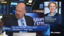 Elon Musk 'thinks he's above the law': Cramer on the Tesl...