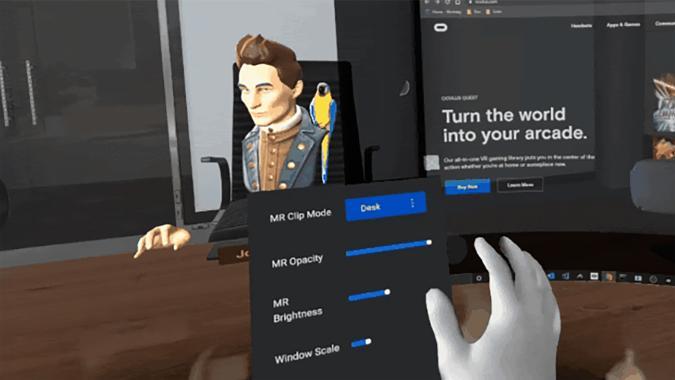 Oculus mixed reality app through Passthrough API Experimental