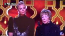 La televisión iraní censura el vestido de Charlize Theron en los Oscar
