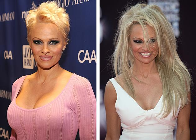 Pamela anderson ditches the pixie cut and returns to her rock view photos pmusecretfo Images