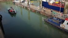 UK Border Force escorts suspected migrants to shore