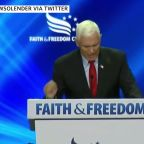 Attendees heckle Pence at conservative gathering
