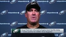 Pederson details how he stayed engaged with Eagles while recovering from COVID-19
