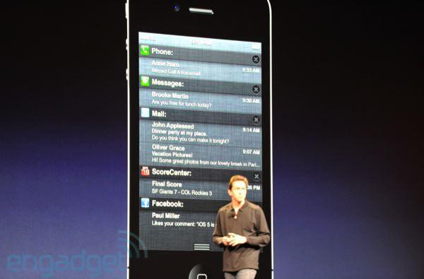 Notification Center for iOS 5 announced