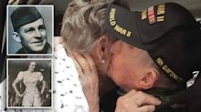'I've always loved you': WWII veteran reunites with teen sweetheart after 75 years