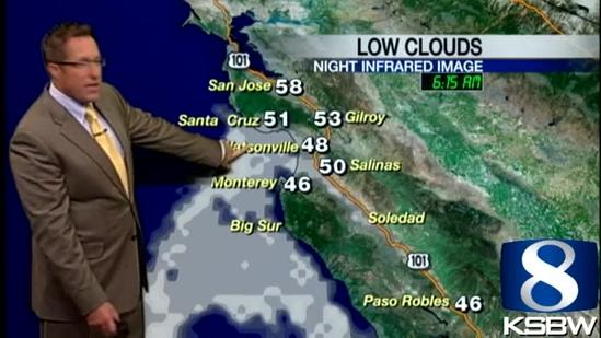 Get Your Wednesday KSBW Weather Forecast 5.01.13