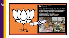 Andhra BJP Falsely Claims 'Cross Erected Over Hindu Shrine'