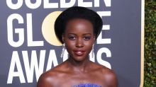 Shop the look: How to get Lupita Nyong'o's beautiful blue makeup look (and $45 shoes!)