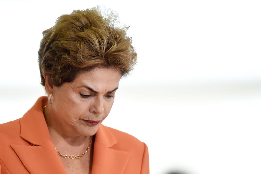 The impeachment case against Brazilian President Dilma Rousseff rests on accusations in Congress that she illegally manipulated government budget accounts (AFP Photo/Evaristo Sa)