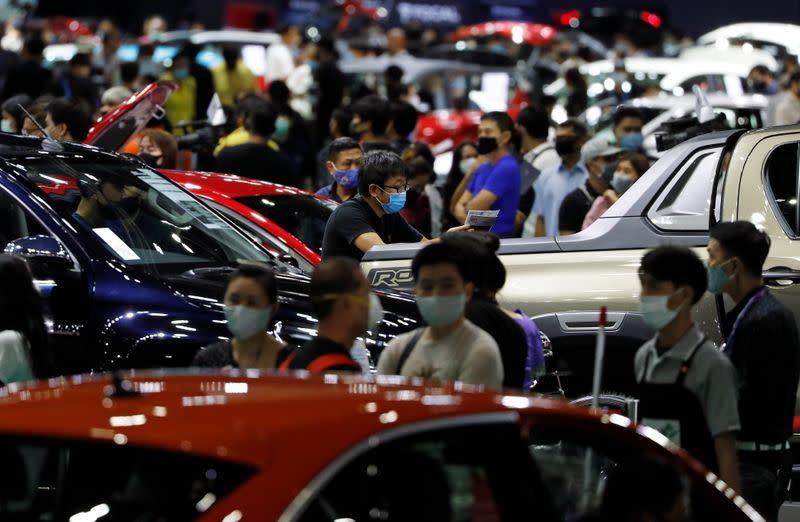 The delayed Bangkok International Motor Show opens to the public amid outbreak of coronavirus disease