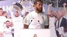 Foot - ESP - Real - Sergio Ramos après le titre remportépar le Real Madrid : «Nous ne devons jamais être fatigués de gagner»