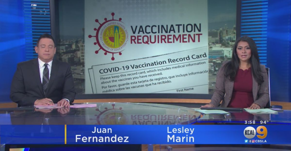 Los Angeles schools to require COVID-19 vaccine for