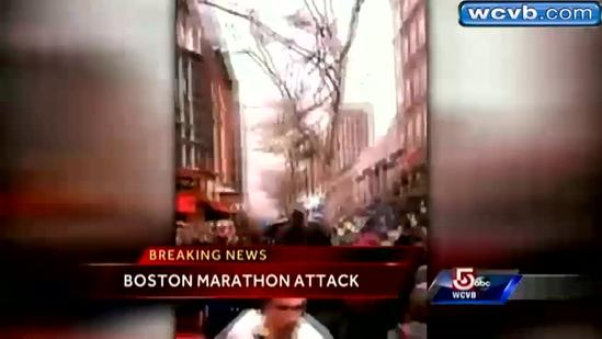 Cellphone video captures Marathon bombings