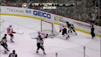 Crosby hits one off the post in final seconds