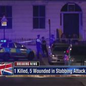 London police say knife attack leaves 1 dead, 5 hurt