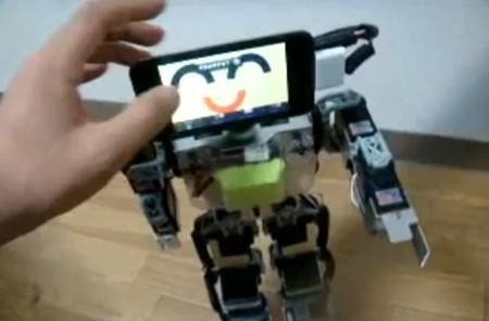 Video: Kondo bot acquires iPod touch headgear