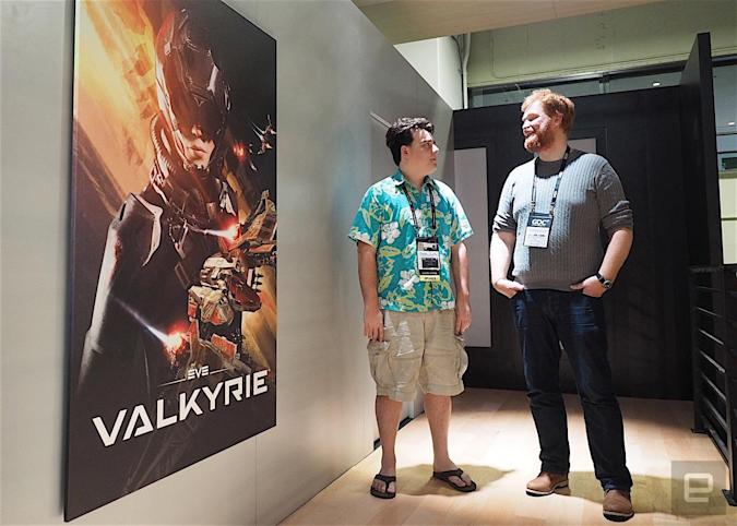 Oculus CEO Palmer Luckey with CCP CEO Hilmar Veigar Ptursson