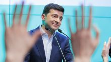 Comic who vowed to unite Ukraine wins votes in east and west