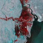 Giant inland sea created by the disastrous Mozambique cyclone