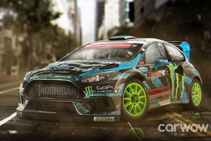ken block ford focus rs rally car looks insanely cool. Black Bedroom Furniture Sets. Home Design Ideas