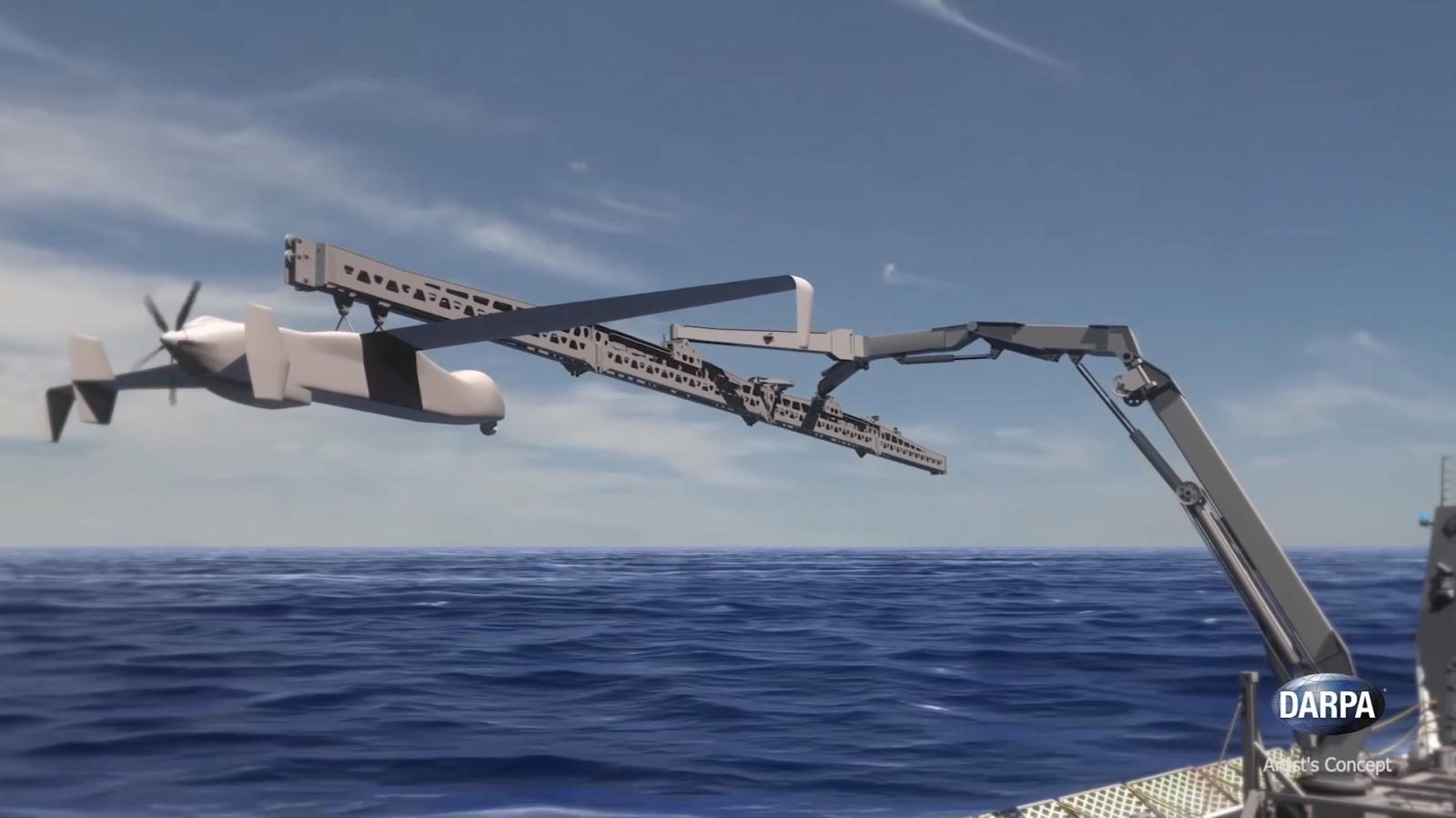 Darpa develops system to launch and retrieve large drones travelling at speed in midair