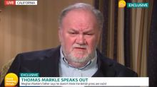 Thomas Markle says daughter Meghan wasn't subjected to racism and that Harry should 'man up'
