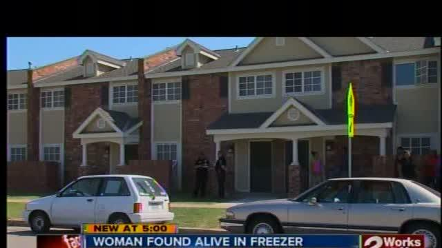 Woman found alive in freezer