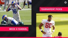 Week 4 FanDuel Picks: NFL DFS lineup advice for daily fantasy football GPP tournaments