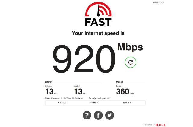 Netflix's Fast.com now measures upload speed and latency