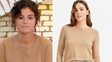 Selena Gomez just wore an affordable cashmere sweater with more than 4,800 reviews