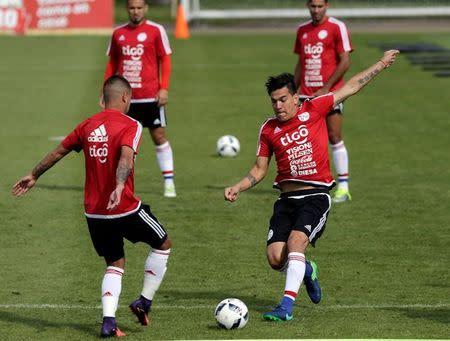Imagen de archivo del futbolista paraguayo Gustavo Gómez