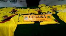 Camisetas colombianas impregnadas con cocaína, decomisadas