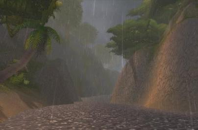 Around Azeroth: Rainy day in Stranglethorn