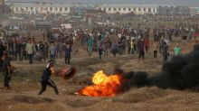 Israeli forces wound dozens of Palestinians at Gaza border protest