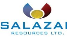 Salazar Announces Filing of Independent Technical Report on the El Domo VMS Deposit
