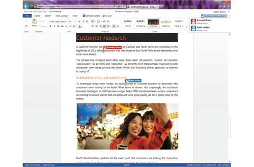 Microsoft Office Web Apps get real-time co-editing, similar to Google Drive