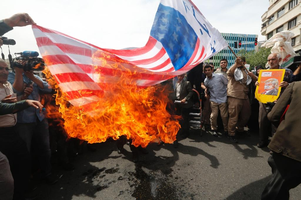 The US decision to leave the nuclear deal with Iran has sparked protests in Tehran