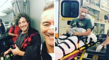 Blue Wiggle back on his feet after medical emergency