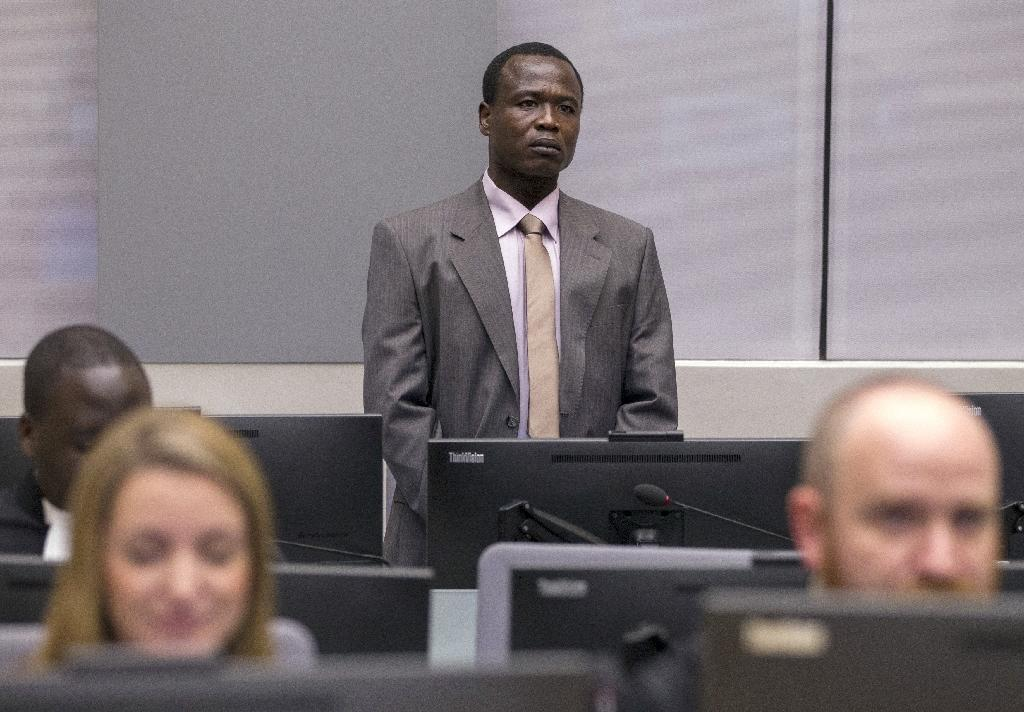 Ugandan commander of the Lord's Resistance Army (LRA) Dominic Ongwen, stands in the courtroom of the International Criminal Court (ICC) during the confirmation of charges hearing in the Hague on January 21, 2016