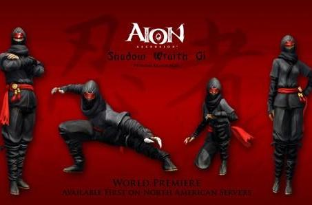Ninja gear to premiere in North American Aion