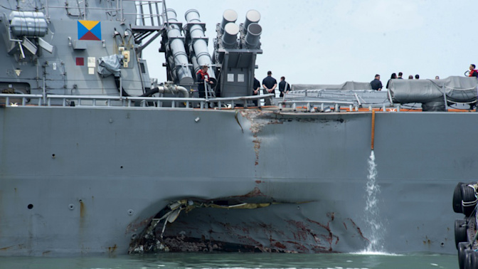 US warship collision: Search continues for 10 missing sailors, says MPA